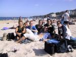 At Coogee Beach with other students